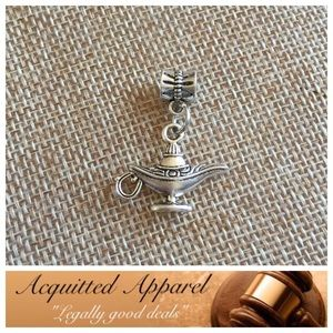 Acquitted Apparel Jewelry - Silver Genie Lamp Charm Fits Pandora