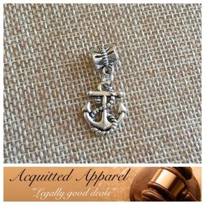 Acquitted Apparel Jewelry - Silver Rope & Anchor Charm Fits Pandora