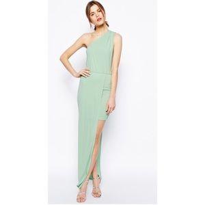 ASOS Maxi Dress with Asymmetric one shoulder