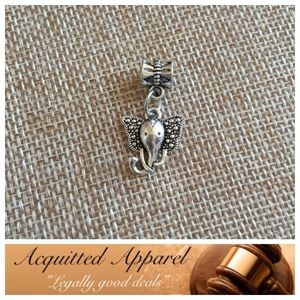 Acquitted Apparel Jewelry - Silver Elephant Charm Fits Pandora