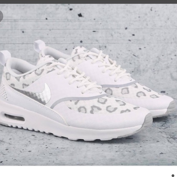 52f9492817f7 Nike Shoes | Air Max Thea White Grey Silver Cheetah 75 | Poshmark