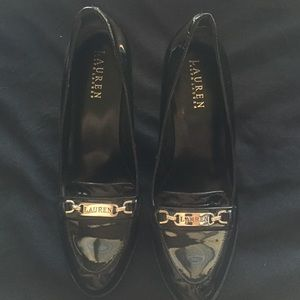 Patent leather Ralph Lauren heels
