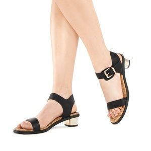 JustFab Shoes - Black Heeled Sandals