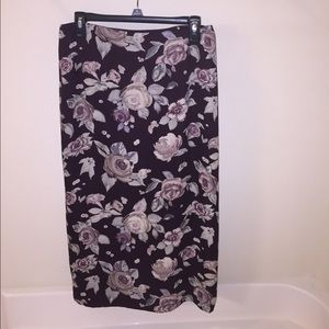 Petite Sophisticate Dresses & Skirts - Petite Sophisticate® purple floral ankle skirt