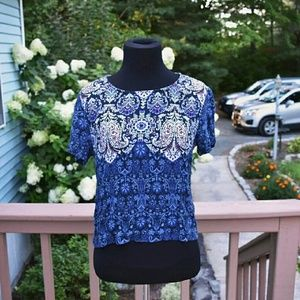 Garage Tops - Beautiful Garage Printed Blouse