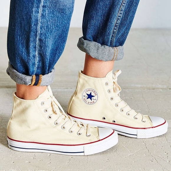 Ivory Converse Chuck Taylor All Star High Tops