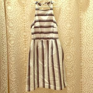 Navy White Stripe Dress