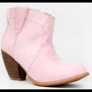 Pink Cowgirl Ankle Boots