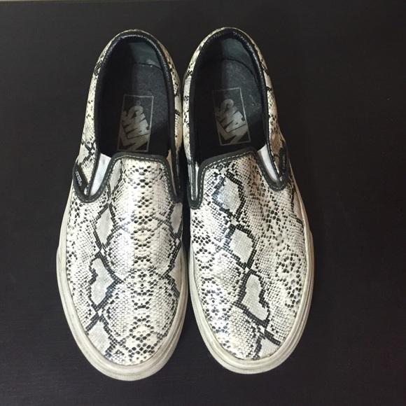 Vans Shoes   Snake Skin Slip On Vans