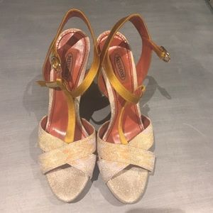 Barely worn sparkly Missoni high heels