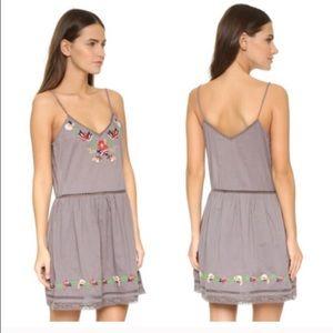 Tularosa Dresses & Skirts - *Just Reduced*Tularosa Gray Embroidered Slip Dress