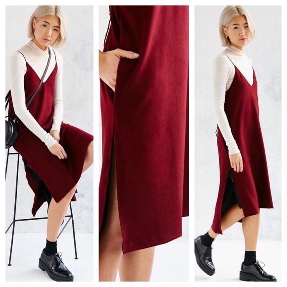 c766157039d1 Urban Outfitters Dresses   Martel Maroon Cozy Slip Dress   Poshmark