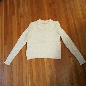 Madewell cream sweater. Size S.