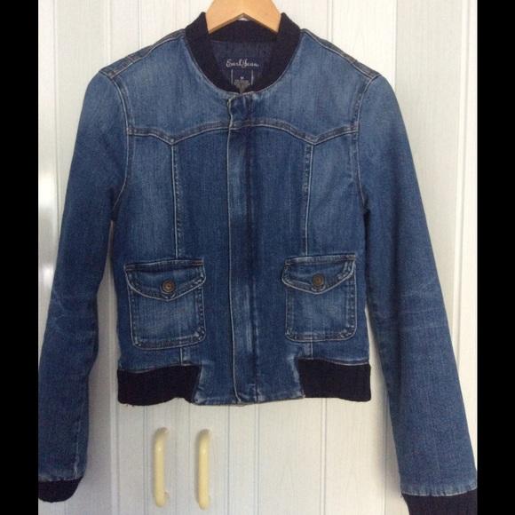 11db6e10b46 Earl Jeans Jackets   Blazers - Denim bomber jacket