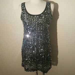 Dresses & Skirts - Confetti Sequin Mini Dress or Long Tank