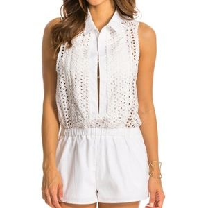 Red Carter Other - NWT Red Carter Neo Boho Cover Up Romper