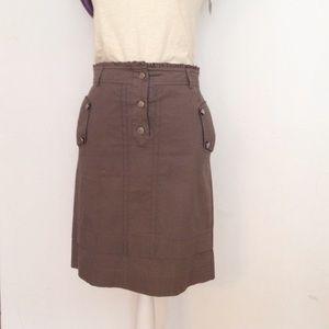 Reiss Dresses & Skirts - REISS military green   cotton skirt - size 4.