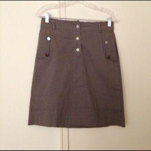 Reiss Dresses & Skirts - REISS military green button & Tiered hem  skirt