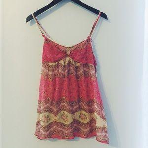 UO silk slip dress.