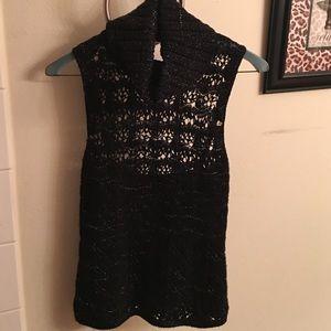 Express black glitter sweater