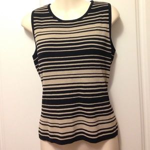 Metcer & Madison sleeveless knit rayon top Sz S