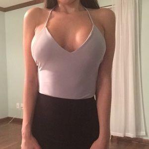 ✨CLEARANCE!✨NWOT Sexy Grey V-Neck Bodysuit