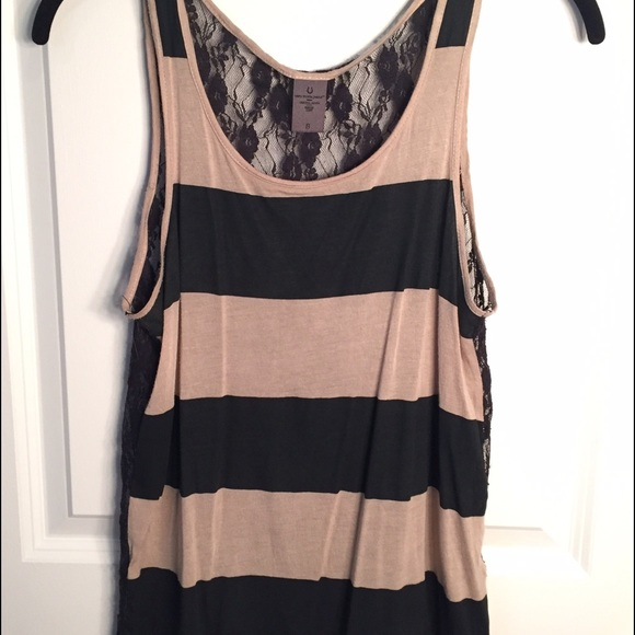 71 off moda international tops striped shirt with see for Shirts with see through backs