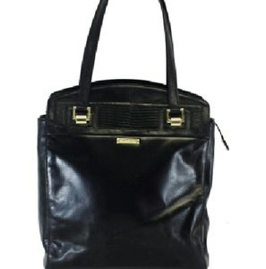 Brooks Brothers- Black Leather Tote