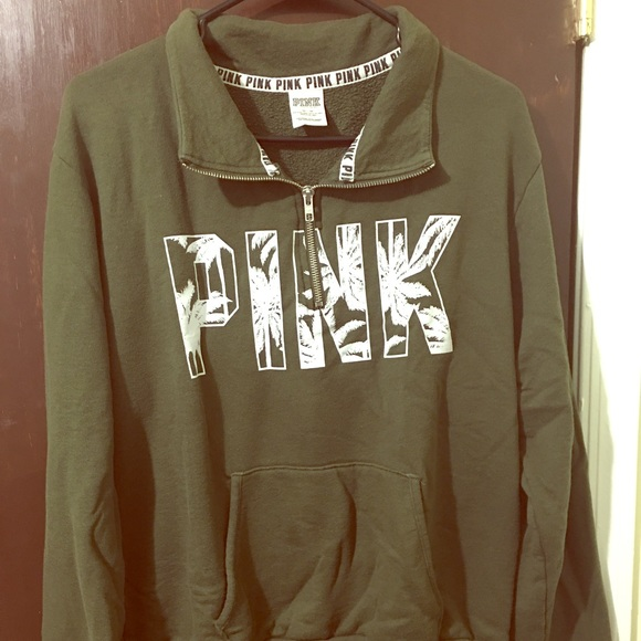 49% off PINK Victoria's Secret Sweaters - PINK sweater in olive ...