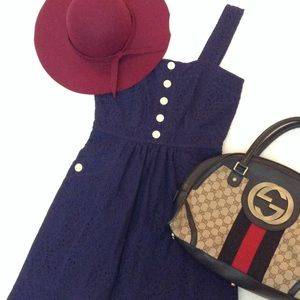 Marc Jacobs Dresses & Skirts - 🎉HP MARC JACOBS Navy Blue Lace Button Dress