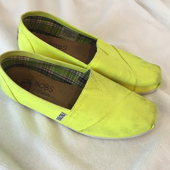 Skechers Shoes   Bright Yellow Bobs