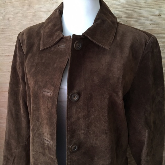 69% off Cherokee Jackets & Blazers - Brown Suede Car Coat from ...