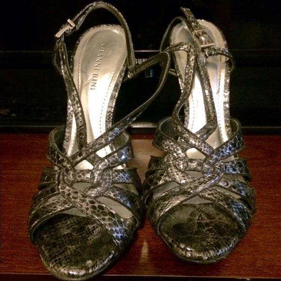 2c5efac911d7c8 Gianni Bini Shoes - Gianni Bini Metallic Silver Heels