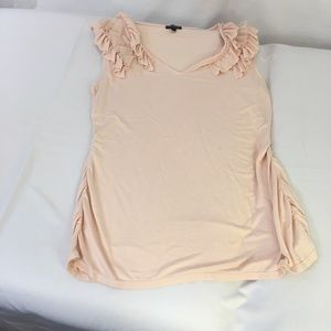 Palest Pink Top with Ruffles