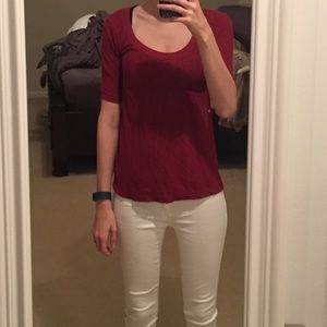 Poof! Tops - Macy's red small top