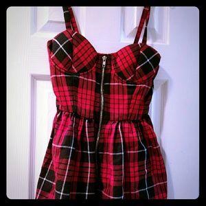 Red Plaid Mini Dress