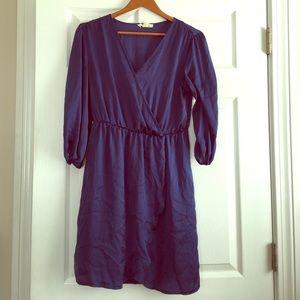 Navy blue silk dress. Size S.