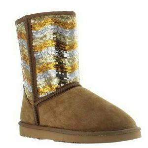 Lamo Shoes - Lamo Women's  Suede Sheepskin Sequin