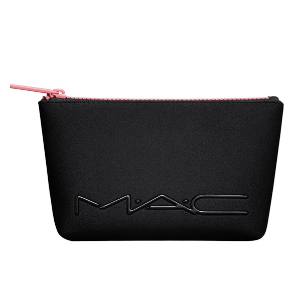 Mac Cosmetics Black Neoprene Coral Zipper