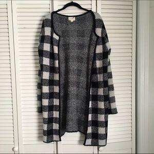LA Hearts Sweaters - LA Hearts Blanker Plaid Poncho