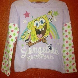 Nikelodeon SpongeBob Purple Long Sleeve T Shirt 3T