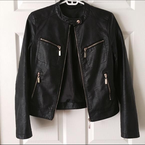 75% off Jackets & Blazers - Gold hardware black leather jacket ...