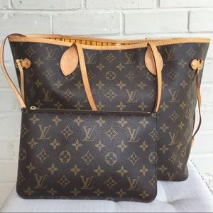 Authentic Louis Vuitton Mono Neverfull with Pouch