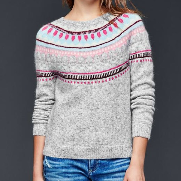 71% off GAP Sweaters - GAP Circular Fair Isle Sweater from Julie's ...