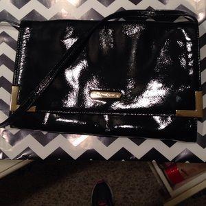 MK Black patent Envelope bag!