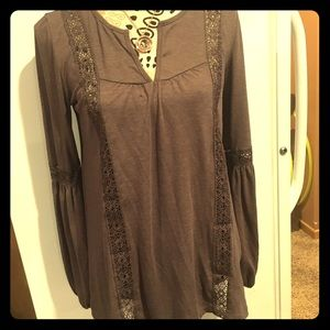 Charlotte Russe mocha colored top