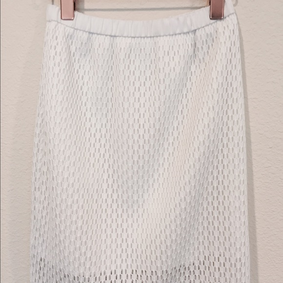 83% off Lucy & Co Dresses & Skirts - Lucy & Co white mesh pencil ...
