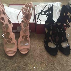Cut Out Lace Heels