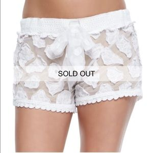 Letarte Other - Letarte Swimwear White Lace Shorts