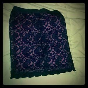 Black Pink Mesh skirt